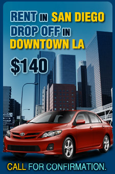 Rent a Car in San Diego drop off in downtown LA